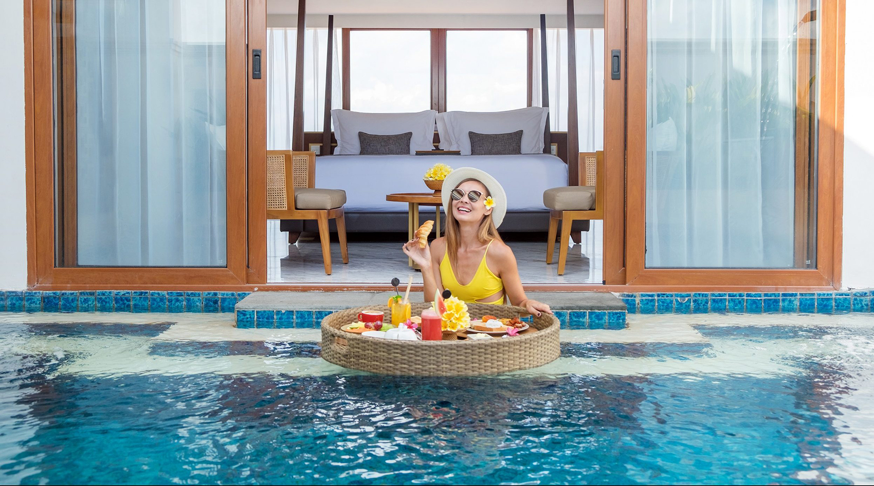 Free floating breakfast Royal Suite at The Bandha Legian Bali